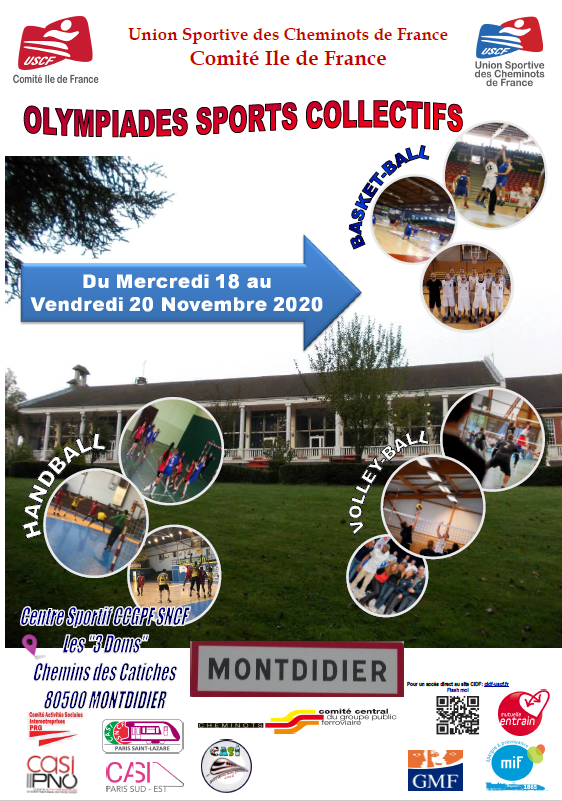 OLYMPIADES BASKET HANDBALL VOLLEY A MONTDIDIER